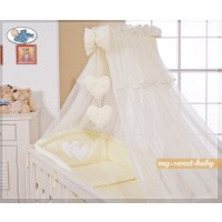 3-Delig Bedset Two Hearts Voile Ecru/Vanille | 8718889000098