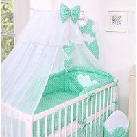 3-Delig Bedset Two Hearts Voile Mint/Dots | 8718889070626
