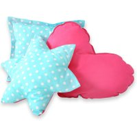 3-Delige Kussenset Dots Turquoise-Pink | 8718889090570