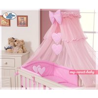 3-delig Bedset Two Hearts Roze Voile | 8718889000036