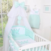 Bedset 3-Delig Little Prince/Princess Voile Mint-Borduursel – Princess | 8718889094981