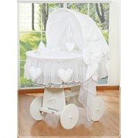 Bolderwagen Wieg Hanging Hearts White | 5908297401027