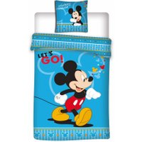 Disney Mickey Mouse Dekbedovertrek Let's Go | 5425039186566