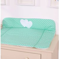 My Sweet Baby Aankleedkussen Two Hearts Dots/Mint | 8718889071623
