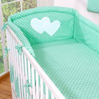 My Sweet Baby Hoofdbeschermer 'Two Hearts' Mint/Dots | 8718889073092