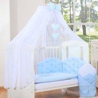 My Sweet Baby Sluier Chic Voile Wit/Lichtblauw | 8718889074556