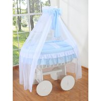 Rieten Wieg Little Angel Blauw | 5908297424675