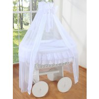Rieten Wieg Little Angel Wit | 5908297424705