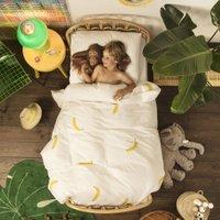 Snurk Junior Dekbedovertrek Banana Monkey | 8719638760256