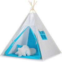 Tipi Speeltent Checkered Grey-Blue | 8718889090259