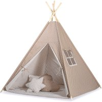 Tipi Speeltent Dots Brown-White | 8718889090266