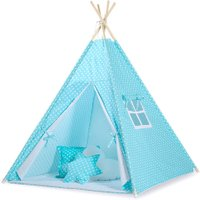 Tipi Speeltent Dots Turquoise-White | 8718889090174